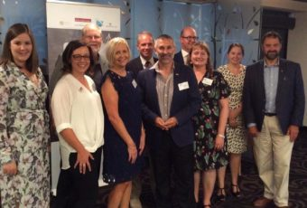 The ACAJ Committee, pictured at a networking function hosted by the ACAJ at the National Press Club in February.